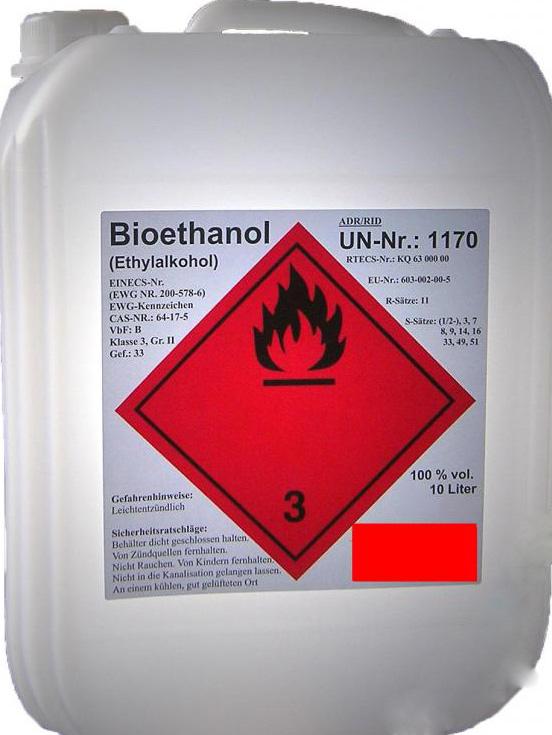 biol h bio ethanol 10l 100. Black Bedroom Furniture Sets. Home Design Ideas
