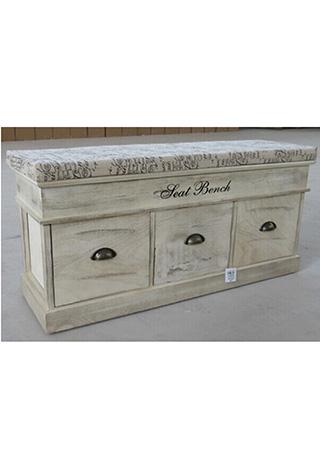 Dřevěná lavice s polstrováním Seat bench 3