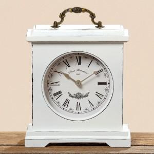 Dřevěné retro hodiny White