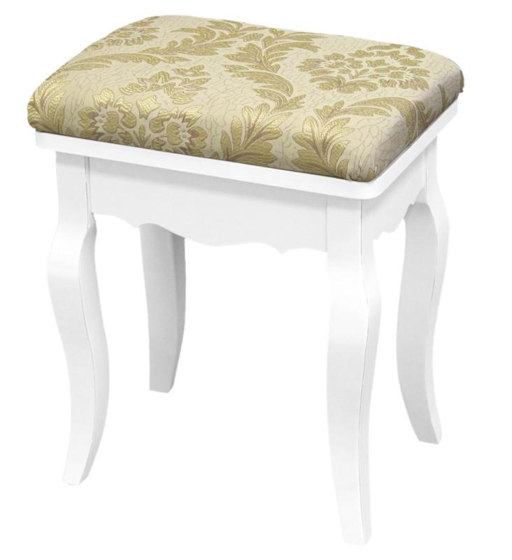 Čalouněná stolička - taburet Klasic Gold