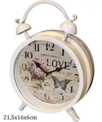 Velký retro budík Love