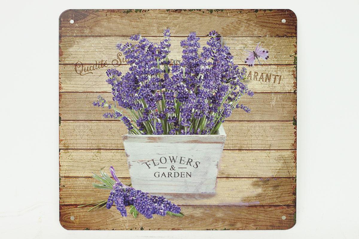 Plechový obraz Levandule Levande Flowers garden