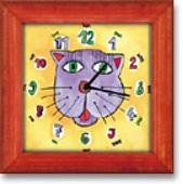 Hodiny s kočičkou AKCE k hodinám cedule 30x20 ZDARMA