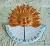Keramické sluneční hodiny na zeď Color M