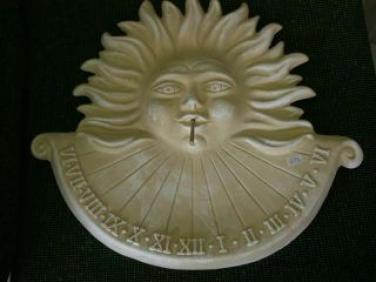 Keramické sluneční hodiny béžové velké L