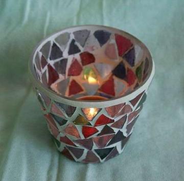 Mozaikový kalíšek - lampička na svíčku