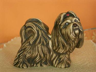Keramický pes shi-tzu