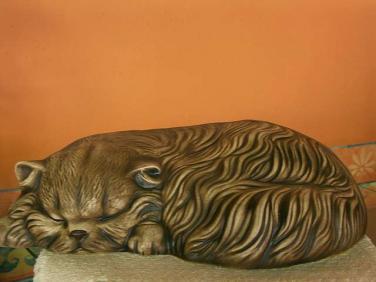 Keramická Spící perská kočka