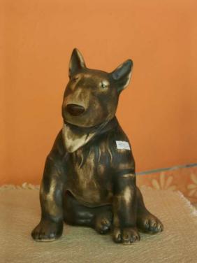 Keramický pes bulteriér