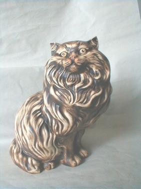 Perská kočka sedící
