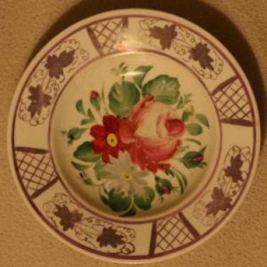 Ručně malovaný talíř Slavkov