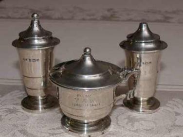 Stříbrná souprava Anglie Art Deco 193