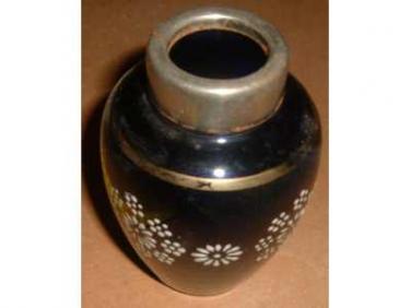 Váza modrá ručně malovaná