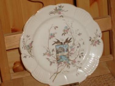 Porcelánový talíř Rybáře Ptáčci před rokem 1918