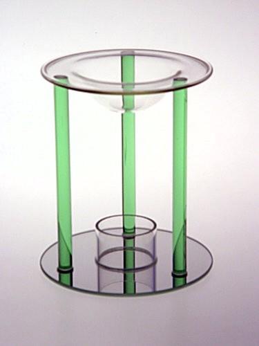 Skleněná aromalampa Green
