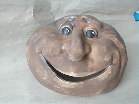 Keramický Kámen velký úsměv S6
