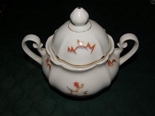 Porcelánová cukřenka Meissen Art deco