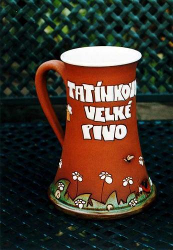 Keramický korbel Tatínkovo velké pivo