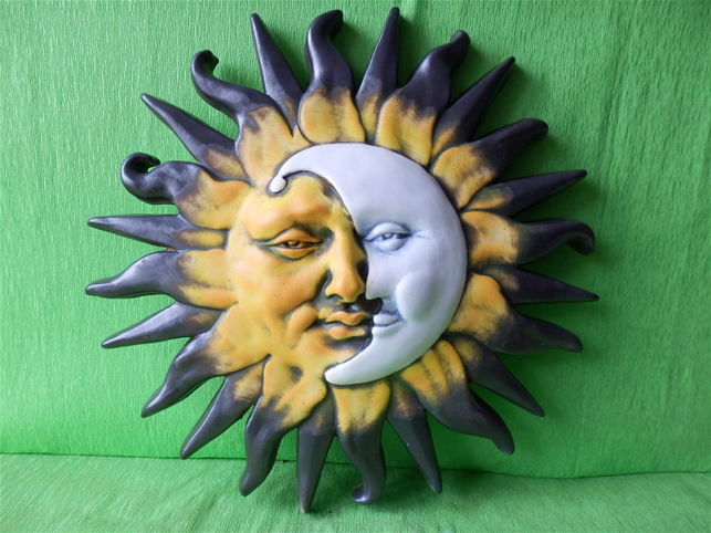 Keramika na zeď Slunce-měsíc Color