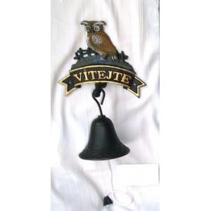 Litonový zvonek Vítejte Sova