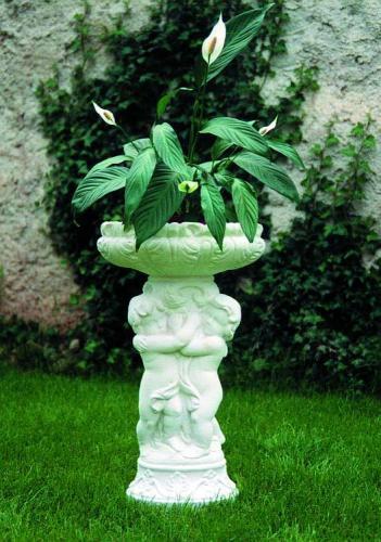 Váza Trojčata s mísou bílá