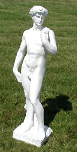 Socha David bílá