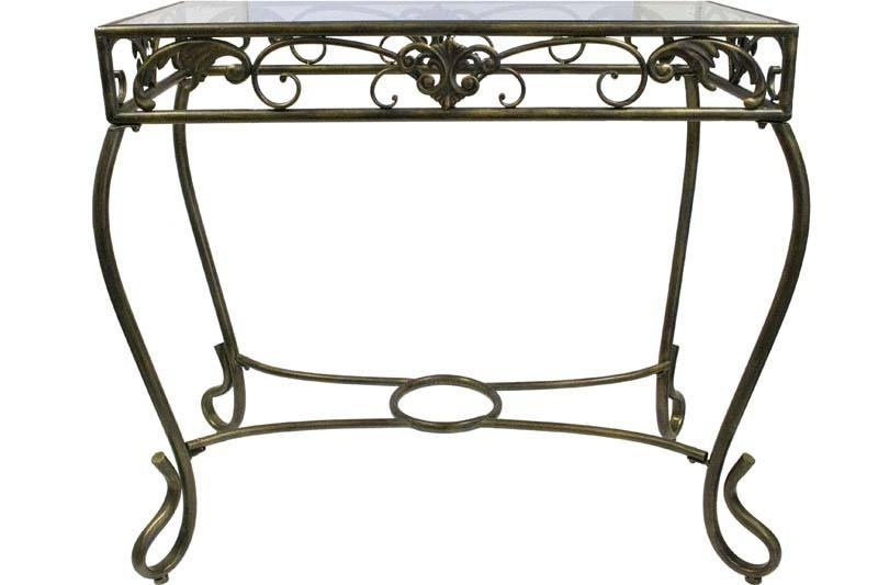 Kovový, gonzolový stolek Lucente