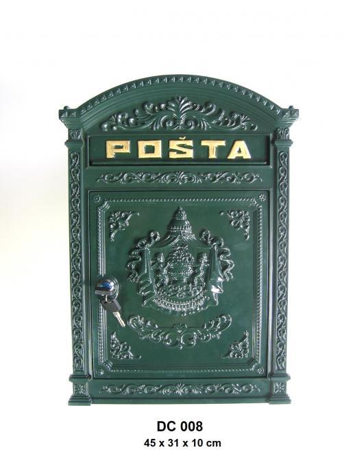 Litinová poštovní schránka - schránka na dopisy