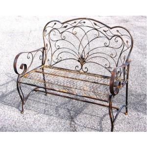 Kovová lavice Provence style