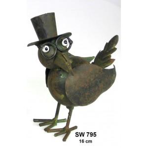 Kovový pták Eduard - dekorace na zahradu