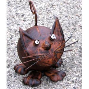 Kovová Kočka Etna - dekorace na zahradu