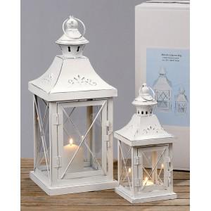 Kovové Lampy - lucerny Champanes sada 1+1 bílé