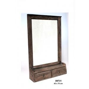 Dřevěné zrcadlo Wood style