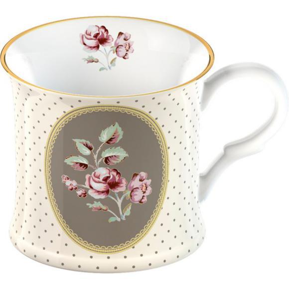 Porcelánový hrnek Biedermeier - Růže white