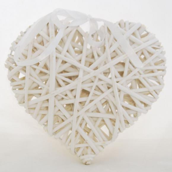 Proutěné Srdce Sweet white L