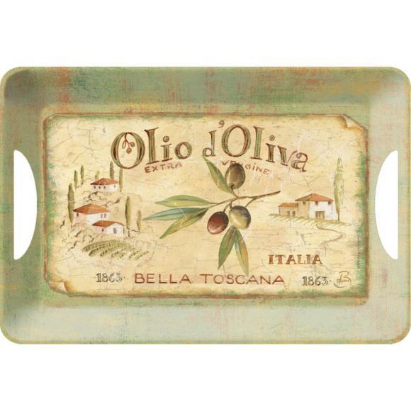 Melaninový tác - podnos Olivy