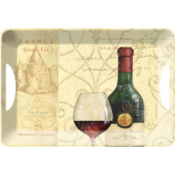 Melaninový tác - podnos Víno