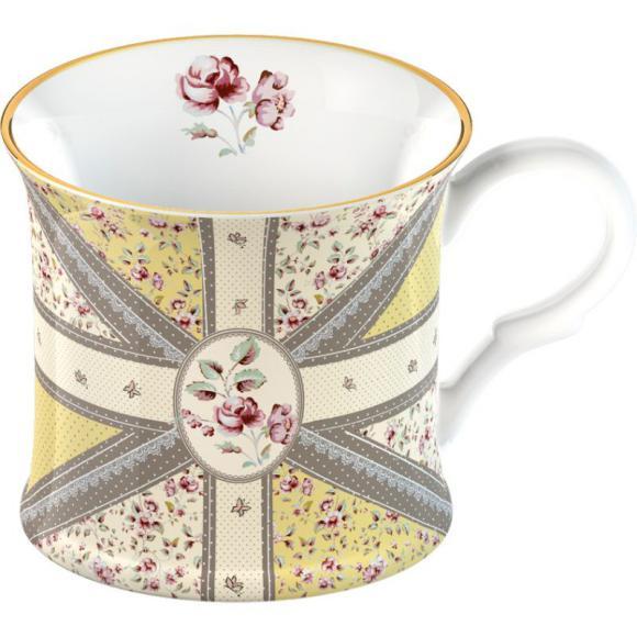 Porcelánový hrnek Biedermeier - Union Jack