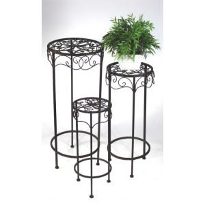 Kovové květinové stolky