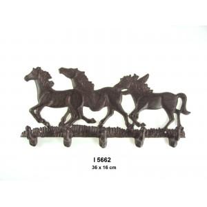 Litinový věšák Koně