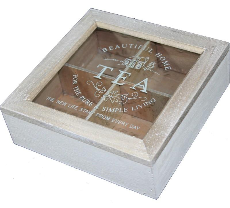 Dřevěná skříňka na čaj Beautifull home