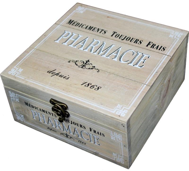 Dřevěná skříňka - Lékárnička Pharmacie