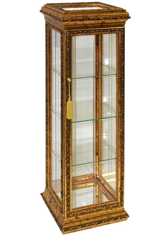 Skleněná skříňka - kabinet Gold wood L