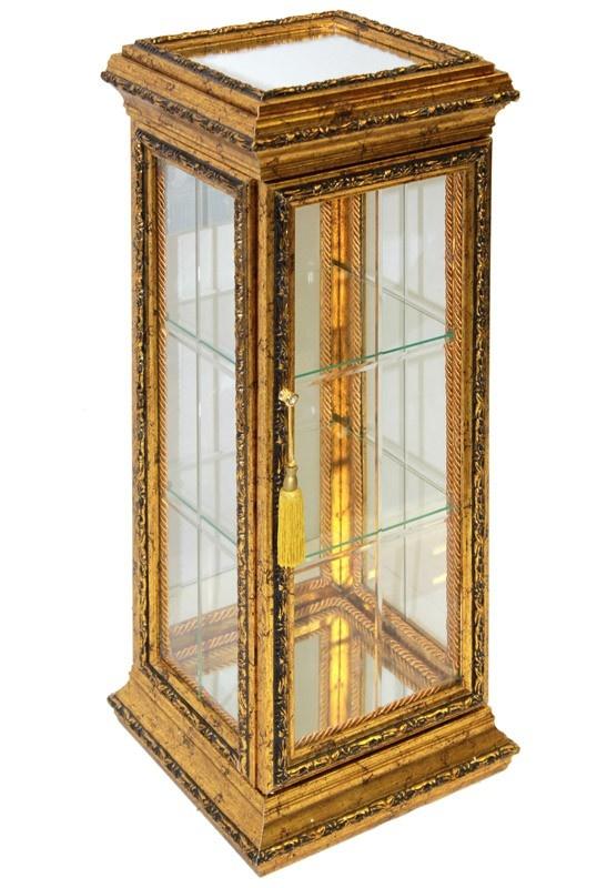 Skleněná skříňka - kabinet Gold wood M