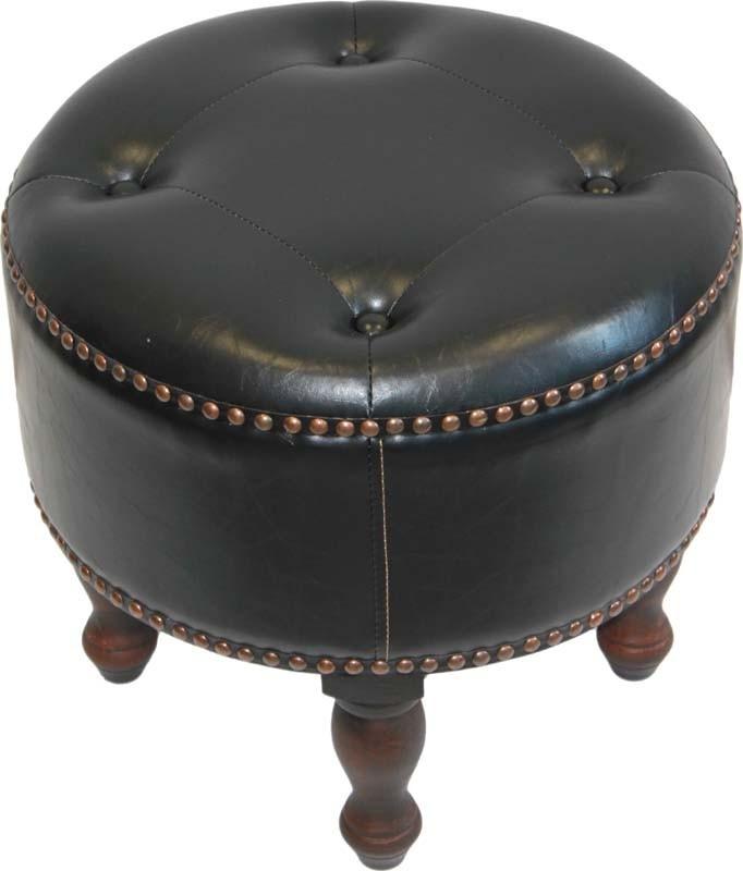 Čalouněná stolička - taburet Chesterfield
