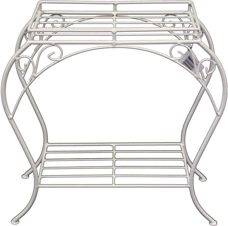Kovový květinový stolek White steel