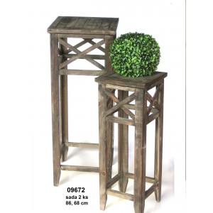 Dřevěný stojan na květiny Klasik 1+1 poškozeno