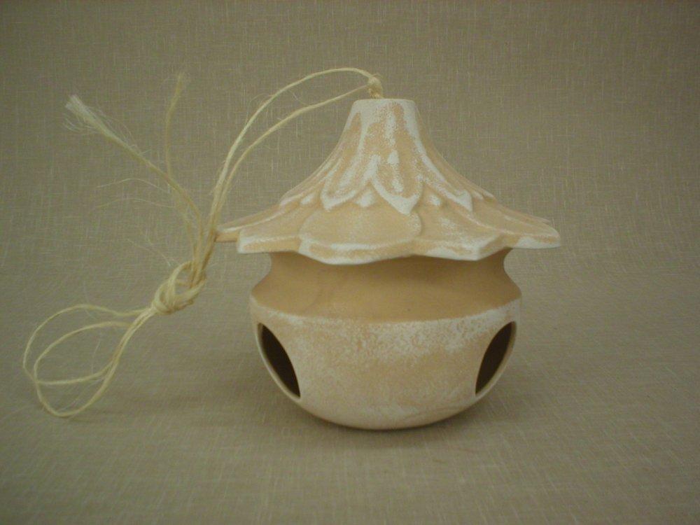 Keramická budka - Krmítko pro ptáčky White