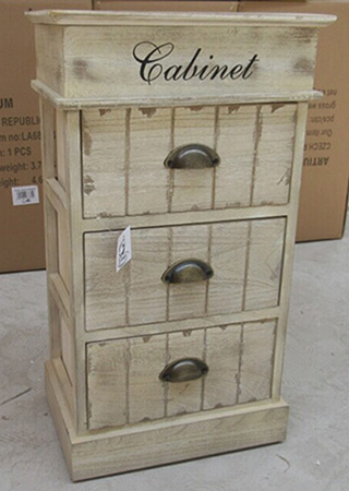 Dřevěná skříňka - Kabinet - 3 zásuvky