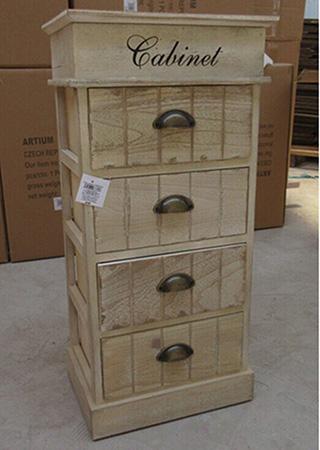 Dřevěná skříňka - Kabinet - 4 zásuvky